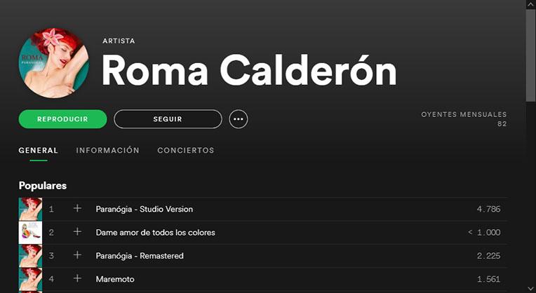 Roma Calderón Spotify