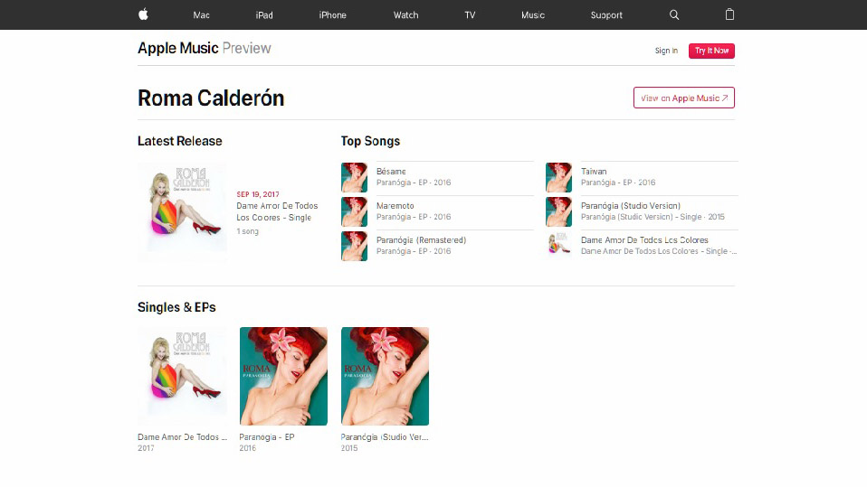 roma calderon iTunes